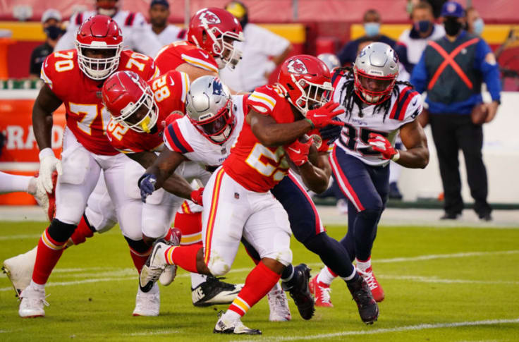 Chiefs vs Raiders Clyde Edwards-Helaire