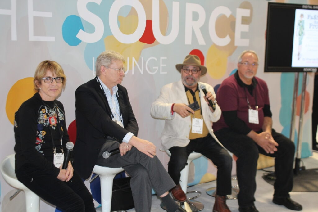 Frances Harder, Peter Kuilduff, Ram Sareem, & Marty Bailey; Guest speakers at the Magic fashion convention in Las Vegas, NV. 2019