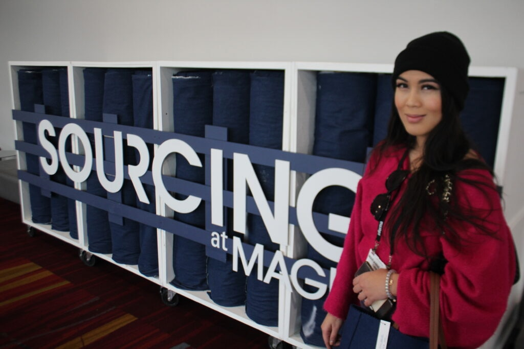 Marianne Tananda Fashion Designers based out of Los Angeles, California at the Magic fashion convention.