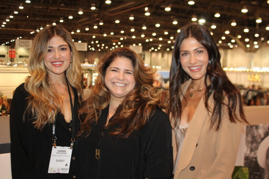 Hanna Montazami, Wendy Bendoni, & Sara Montazami guest speakers at the Magic fashion convention in Las Vegas, NV.