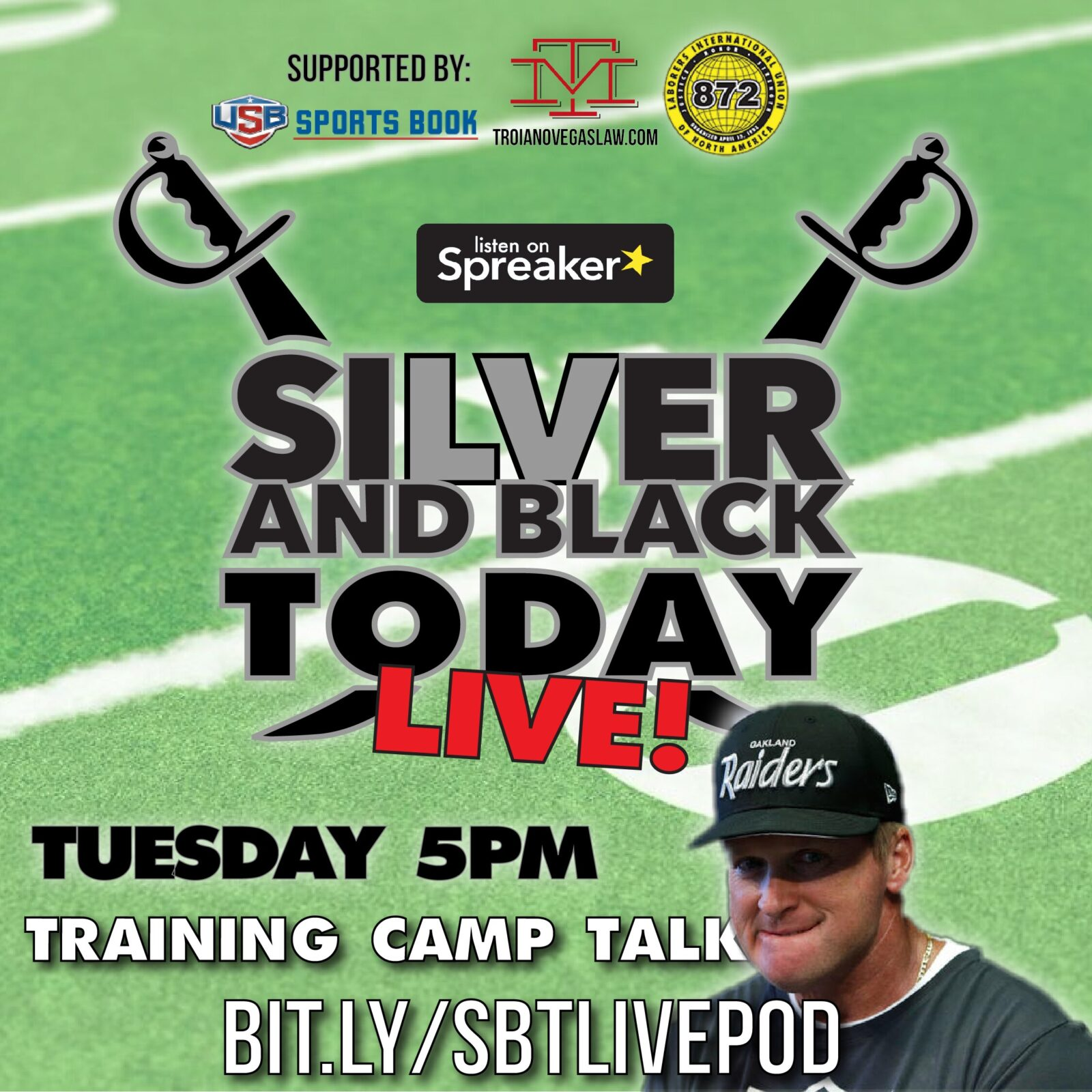 jon gruden oakland raiders silver and black today podcast