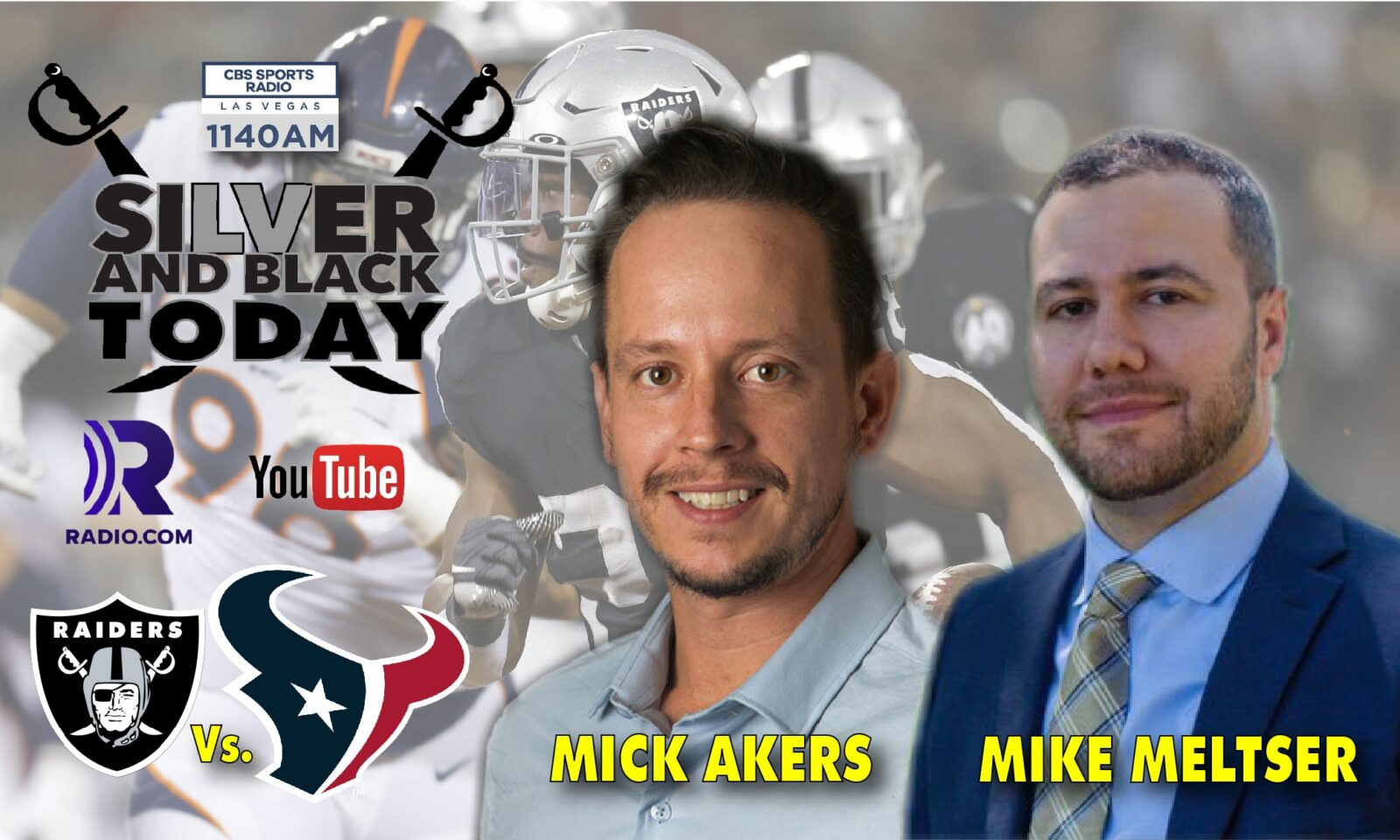 silver and black today mick akers mike meltser houston texans cbs sports radio