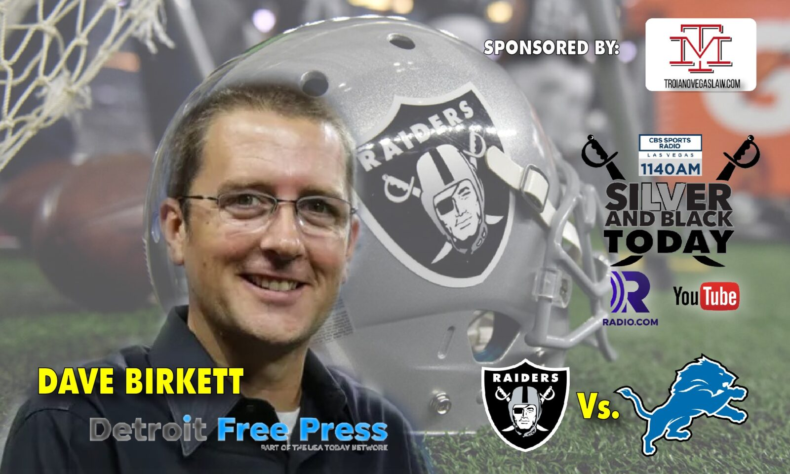 dave birkett detroit lions oakland raiders silver and black today